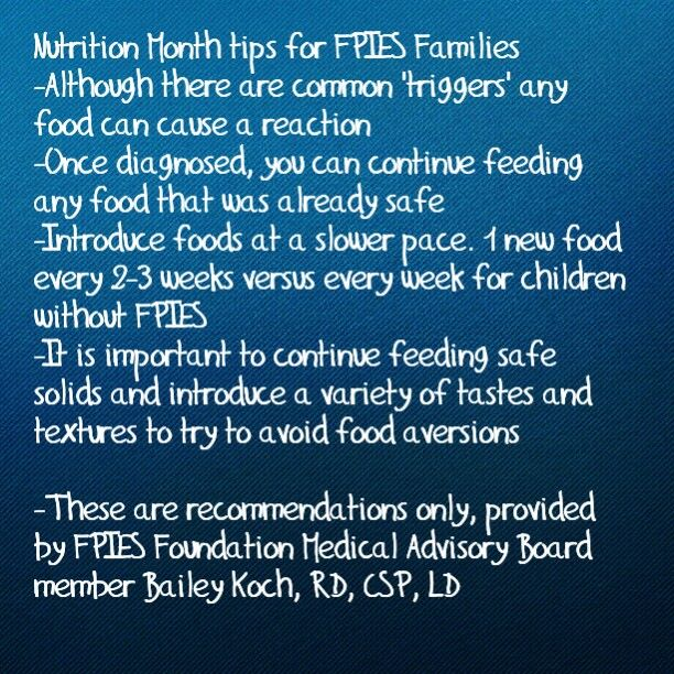 Nutrition month FPIES