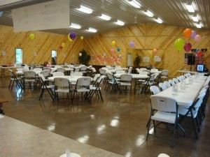 fundraiser tables
