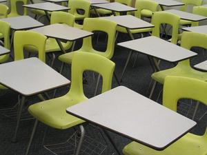 The empty classroom.