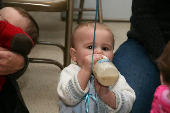Chase always feels better when he has his bottle!
