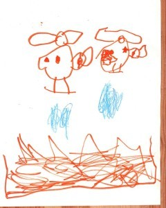 thomas draws helicopters putting out a fire