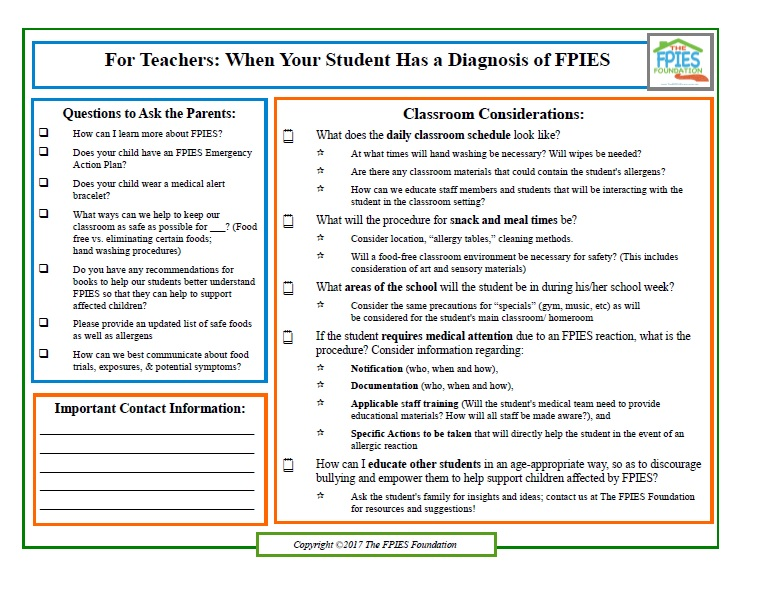 Worksheet JPEG -Raising FPIES Awareness in the classroom