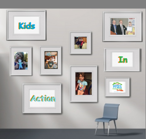 kids in action gallery wall