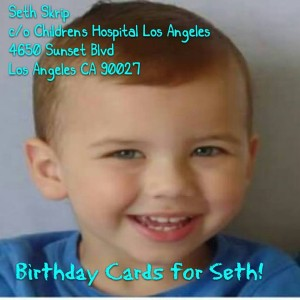 Birthday cards for Seth