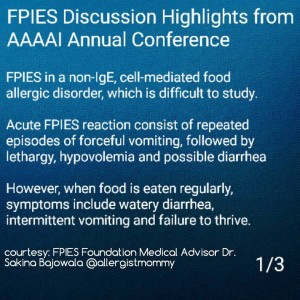FPIES at AAAAI Dr Bajowala 1 of 3