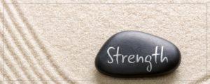 cropped zen garden strength rock