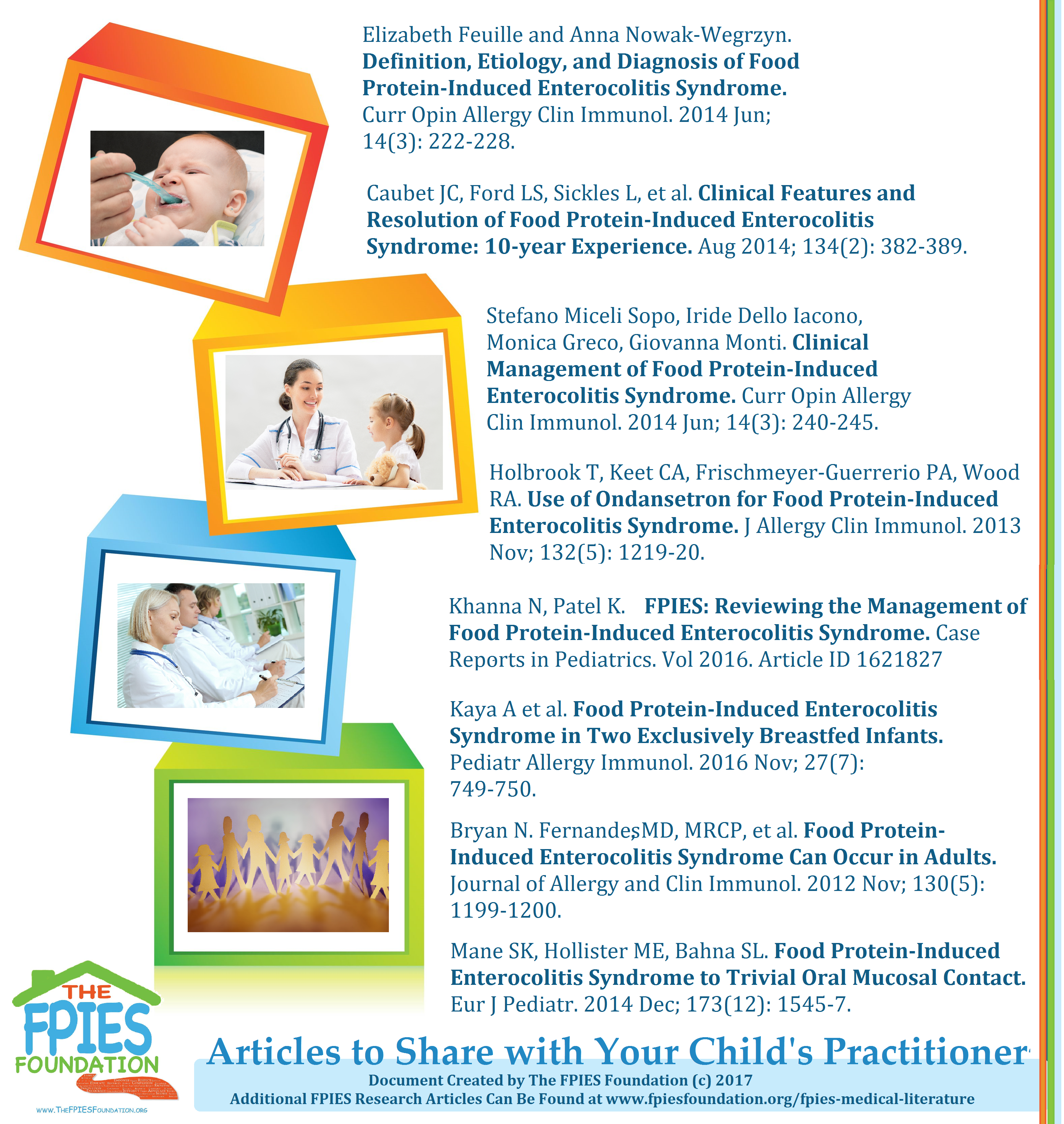Fpies Medical Literature The Fpies Foundation