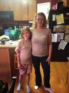 Nicole with her mom
