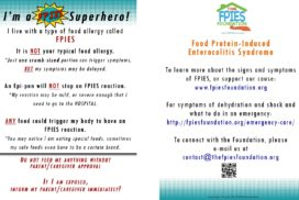 I am a FPIES Superhero card both side for web printing