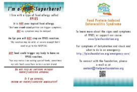 PDF to Jpeg of I am a FPIES Superhero card