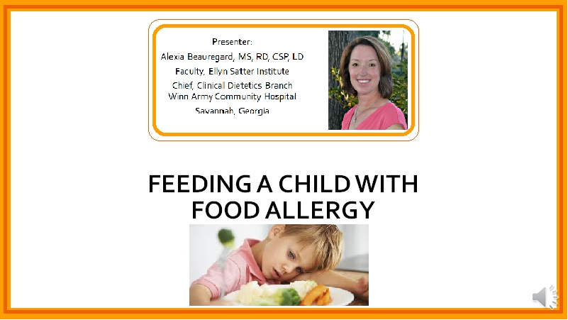 Feeding a Child with Food Allergy