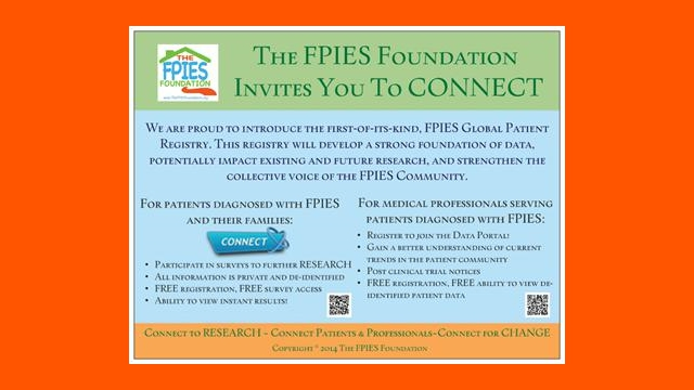 CONNECT to the Global FPIES Patient Registry